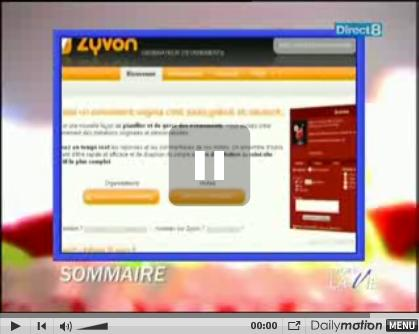 On parle de Zyvon sur direct8